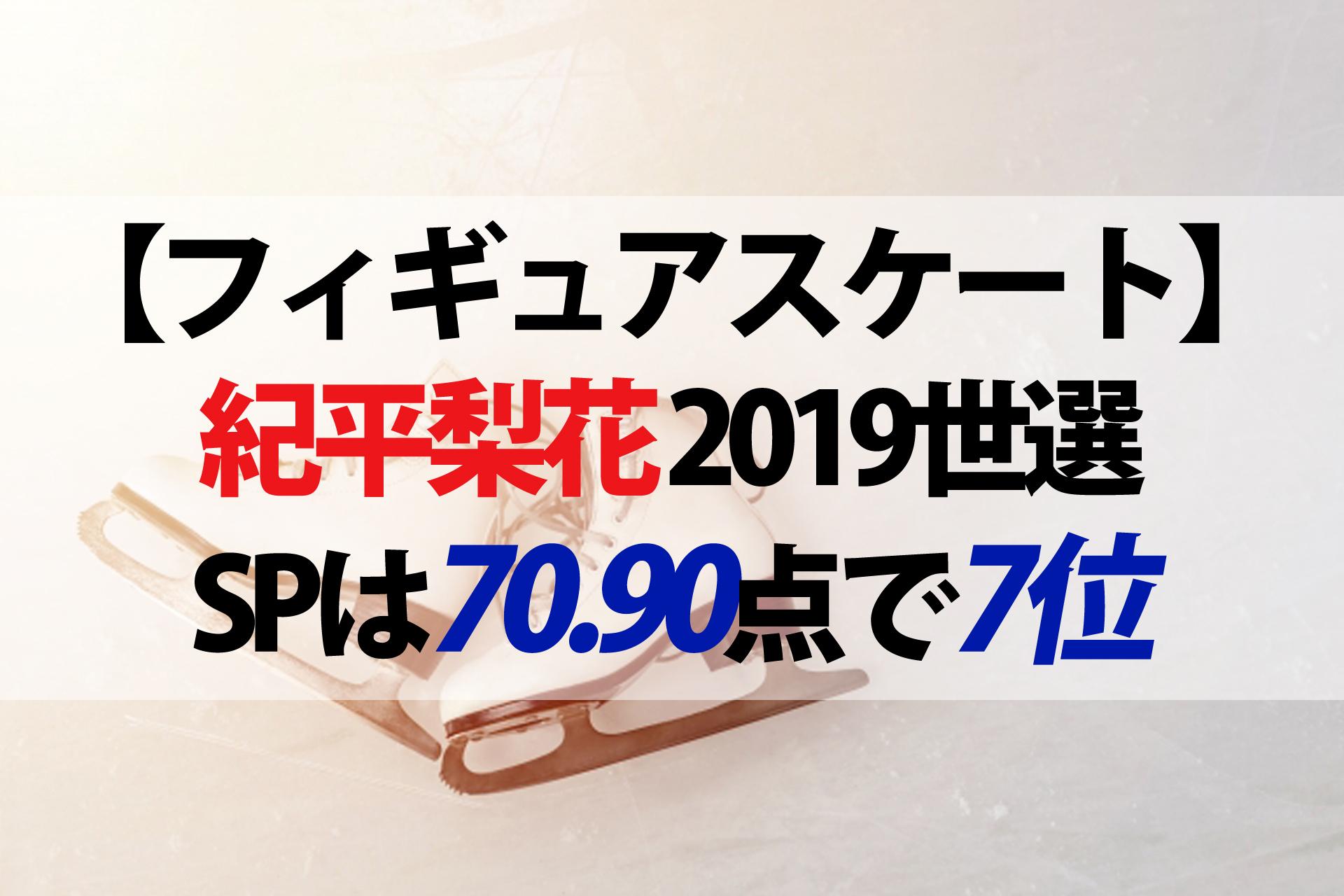 2019世界フィギュア女子SP紀平梨花