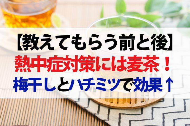 【教えてもらう前と後】麦茶で熱中症対策!夏バテ解消には梅干しとハチミツをちょい足し