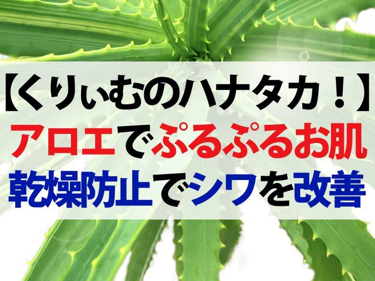 【ハナタカ優越館】アロエの保湿力でお肌ぷるぷる!乾燥を防いでシワ改善に効果的