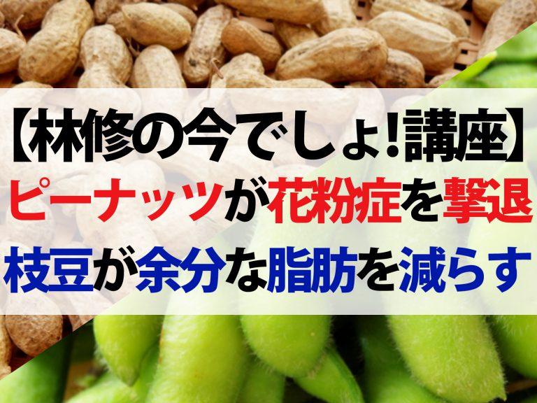 【林修の今でしょ!講座】枝豆VSピーナッツ!花粉症を撃退して脂肪を減らす