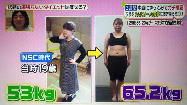 【ヒルナンデス】りんたろー。式ダイエットで本当に痩せるのかガチ検証!3週間続けた結果は?