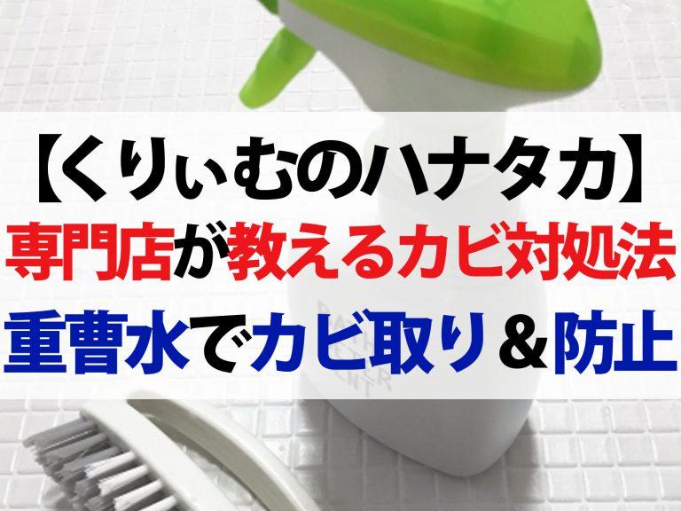 【ハナタカ優越館】カビ取り専門店が教える効果的なカビ対処法|重曹水でカビ防止