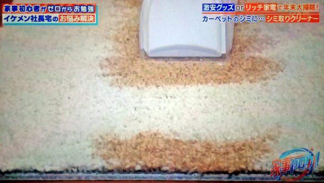 【家事ヤロウ】シミ取り家電『リンサークリーナー』を紹介|カーペットのしつこいシミ汚れが簡単に取れる