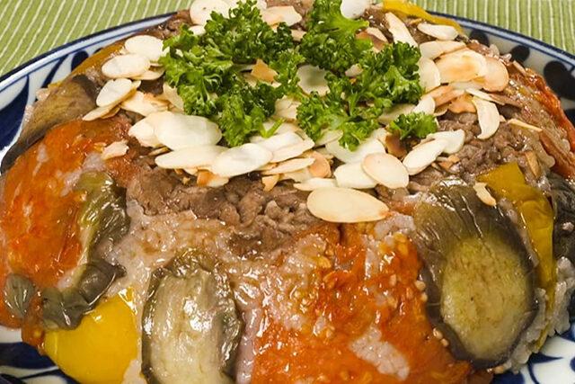【家事ヤロウ】石黒彩『マクルーベ風ご飯』レシピ|炊飯器で作るアラブ料理
