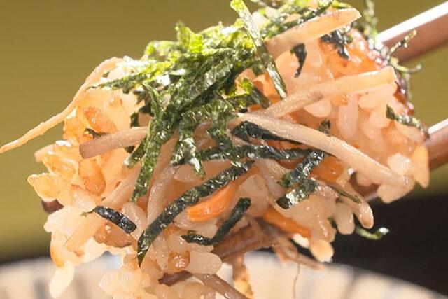 【家事ヤロウ】料亭風ゴボウサラダ炊き込みご飯のレシピ|炊飯器に入れて炊くだけ炊き込みご飯