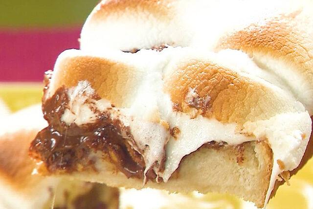 【家事ヤロウ】スモアフレークトーストのレシピ 春のパン祭りトースト