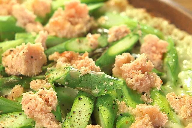 【家事ヤロウ】アスパラ明太子チーズ焼きのレシピ 和田明日香さんが早炊き36分間で作る絶品おかず