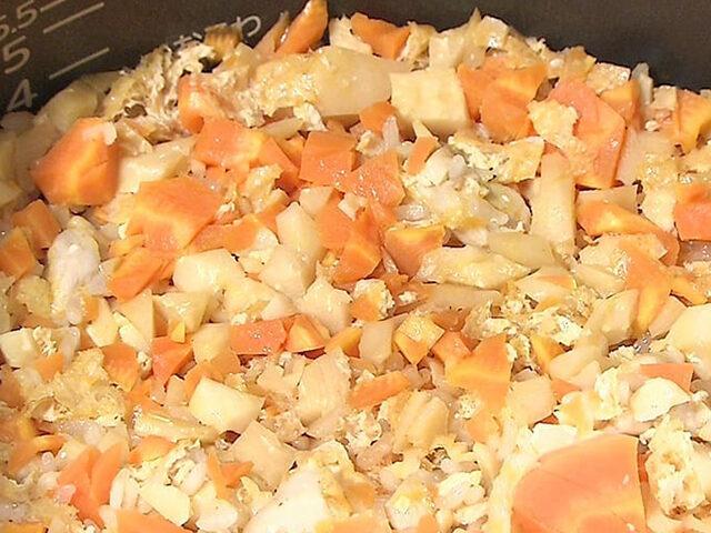 【家事ヤロウ】焼肉のたれ料亭風炊き込みご飯のレシピ|井ノ原快彦の焼肉のたれアレンジレシピ