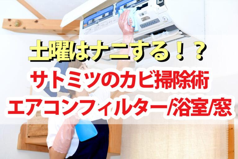 【土曜は何する】カビ掃除術(エアコンフィルター・浴室・窓)をサトミツが伝授