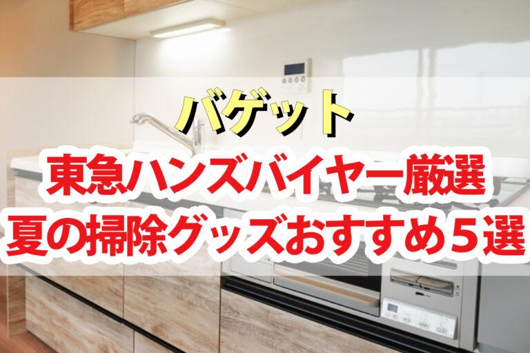 【バゲット】夏の掃除グッズ5選 窓・キッチン・浴室 東急ハンズバイヤー厳選