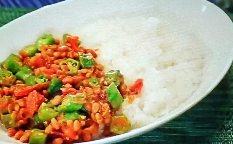 【ヒルナンデス】オクラねばねばカレーのレシピ|印度カリー子のレンチンスパイスカレーレシピ