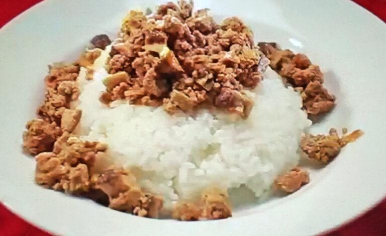 【ヒルナンデス】中華風しいたけキーマカレーのレシピ|印度カリー子のレンチンスパイスカレーレシピ