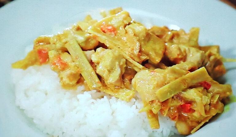 【ヒルナンデス】鶏ごぼうカレーのレシピ 印度カリー子のレンチンスパイスカレーレシピ
