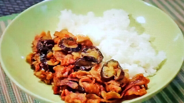 【ヒルナンデス】豚バラなすカレーのレシピ 印度カリー子のレンチンスパイスカレーレシピ
