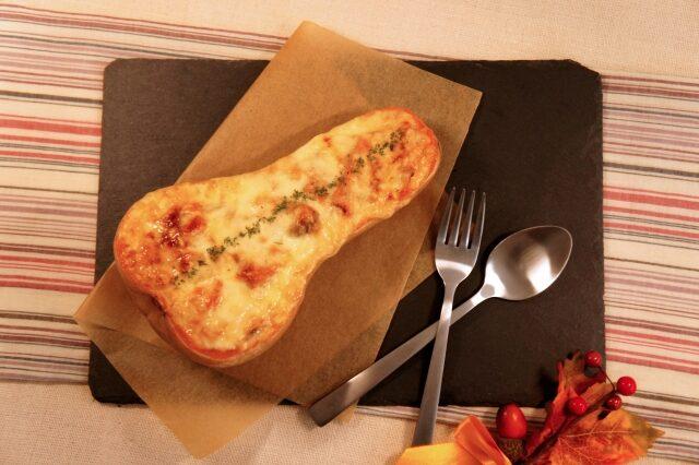 【所さんお届けモノです】バターナッツかぼちゃの中華風麻婆グラタンのレシピ